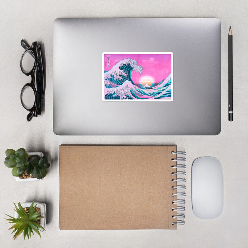 Vaporwave Sticker Aesthetic Decal Vibes Vinyl Decal Stickers image 0