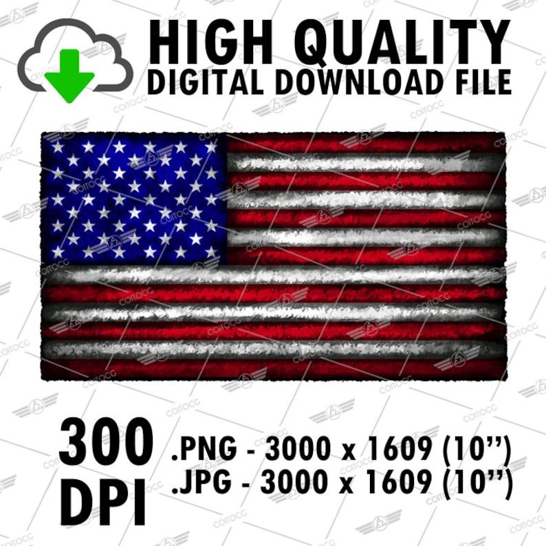 American Flag Design Digital Download PNG File Download Flag image 0