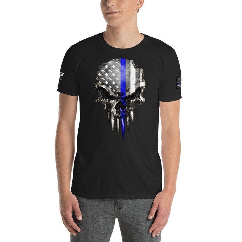 Thin Blue Line Police Shirt Police Tee Police Thin Blue Line image 0