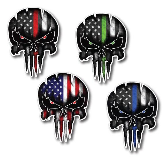 "Skull Flag Nepal Car Bumper Sticker 4/"" x 5/"""