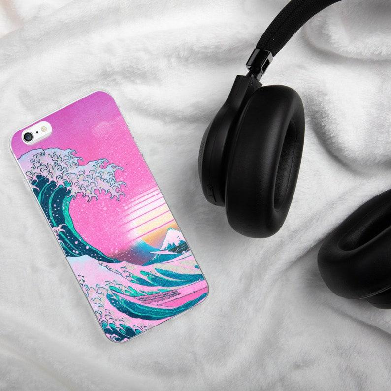 Vaporwave iPhone Case Vaporwave Kanagawa iPhone Case iPhone image 0