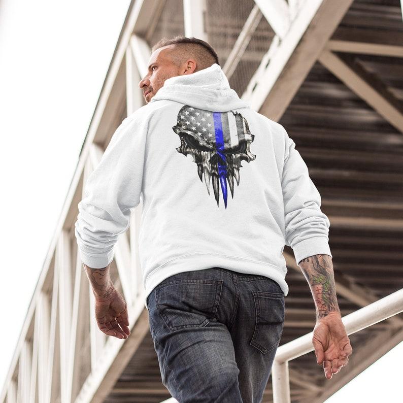 Police Punisher Skull Hoodie Sweatshirt Police Sweatshirt Thin image 0