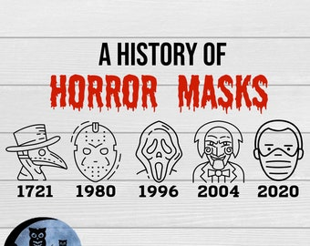 Halloween 2020 A History of Horror Masks - svg, png