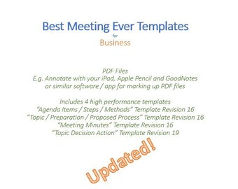 meeting minutes etsy