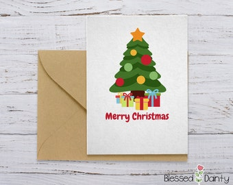 simple cute christmas gifts card merry christmas printables
