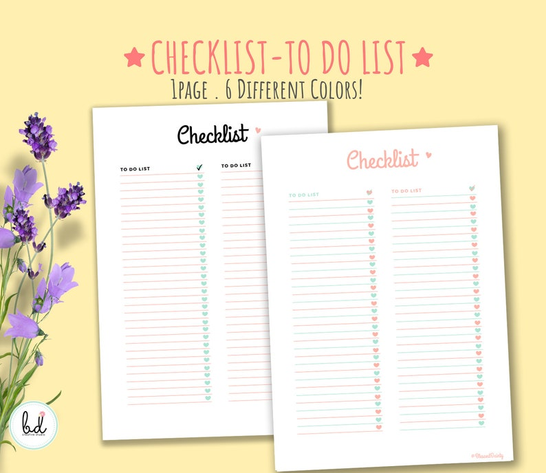 photo relating to To Do List Printable Cute known as Printable Lovable Pastel List In direction of Do Checklist Todays Step Program for your Bullet Magazine or Planner Dwell Prepared