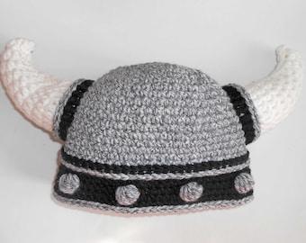 6b7664c2780 Viking Helmet pattern - Horned helmet PDF pattern - Instant Download Crochet  Pattern - Crochet Hat Pattern
