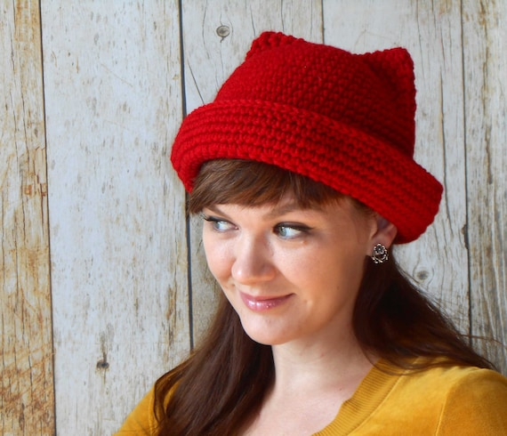 6 Adorable And Free Crochet Patterns For Cat Hats With Ears ... | 490x570