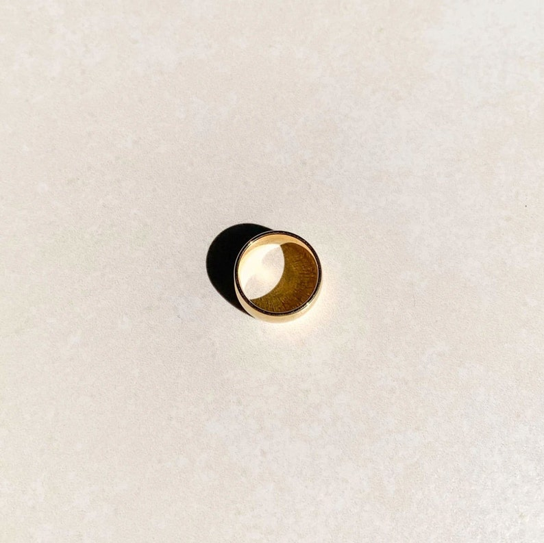 Chunky ring unisex The Large Gold Band ring size 7 US