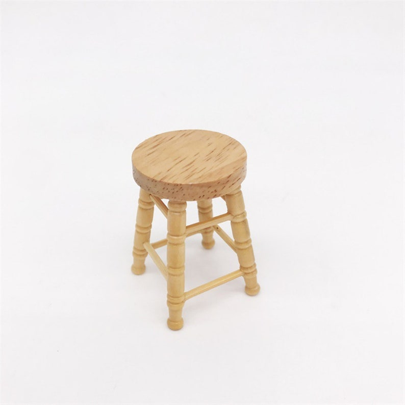 Simulation Mini Stool Chair Furniture Model Toys for Doll House Decoration 1//12