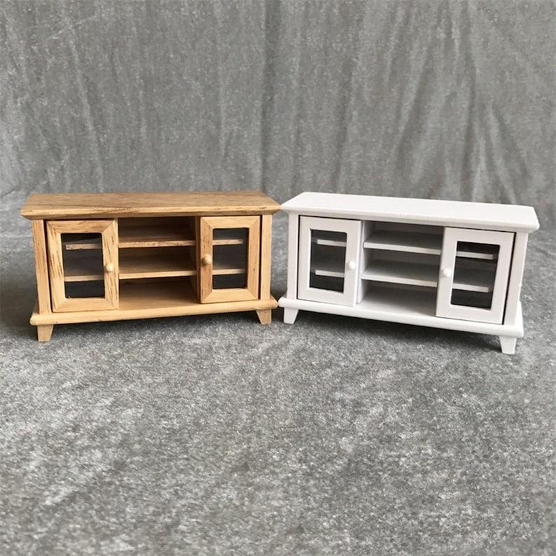 Dollhouse Miniature Furniture Kitchen Accessory Wood Microwave Oven 1:12 HU