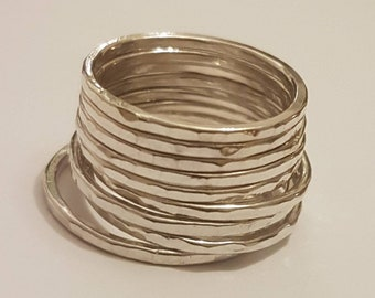 Skinny Silver Stacking Ring