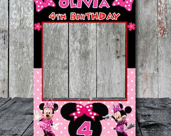 Minnie Mouse Photo Booth Frame Party Birthday