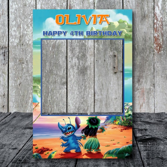 Lilo And Stitch Photobooth Frame Lilo And Stitch Photo Booth Etsy