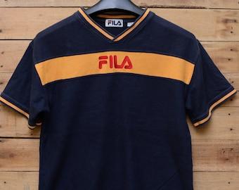 1a08b85287a Vintage Fila Tshirt  Fila made in USA shirt  fila sport shirt