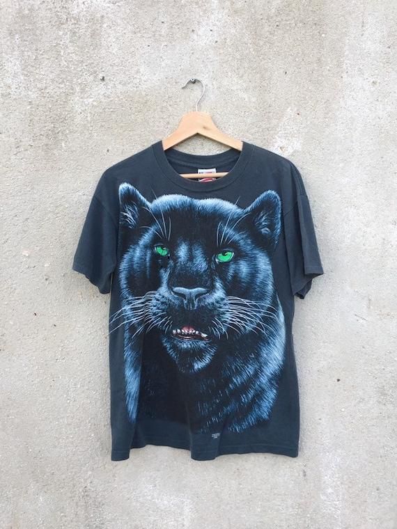 Vintage 90's Black Panther t shirt / vintage Anima