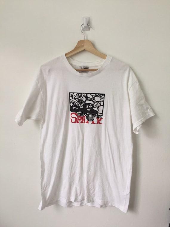 Vintage 90's SPARK Skateboard shirt /vintage spark