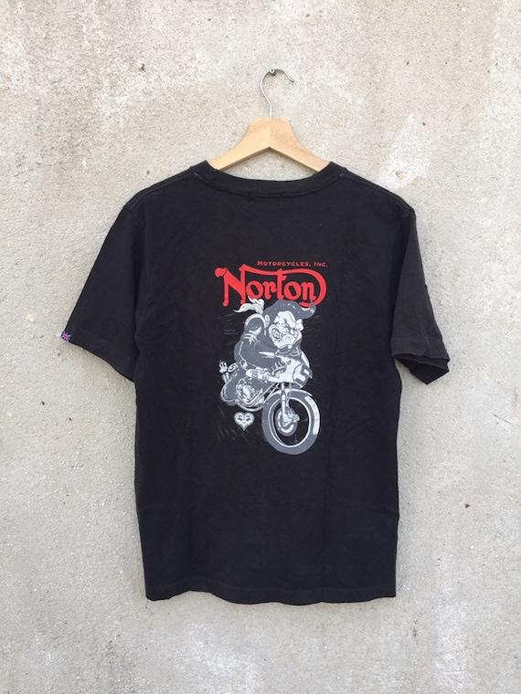Vintage 90's Norton motorcycle T shirt/ Vintage To