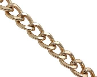 Chaîne en or, chaîne en bandoulière, chaîne de l épaule, ceinture chaîne,  chaîne de sac, chaîne, chaîne en métal, chaîne GOURMETTE a43179cbec2