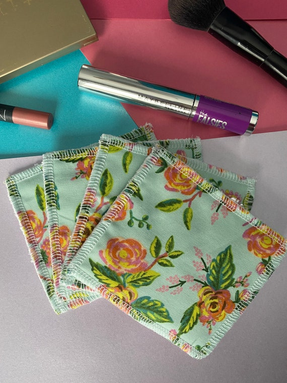 Standard Washable reusable cotton face wipes, rifle paper fabric reusable cotton pads, eco friendly alternative