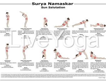 a4 printable yoga poster hathayoga asanas educational  etsy