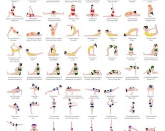 Yoga poster | Etsy
