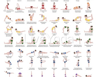 a2 hathayoga poster printable poster for teachers and  etsy