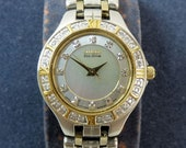 CITIZEN ECO-DRIVE Two Tone Stainless Steel Diamond set Wristwatch with M.O.P dial in G.W.O