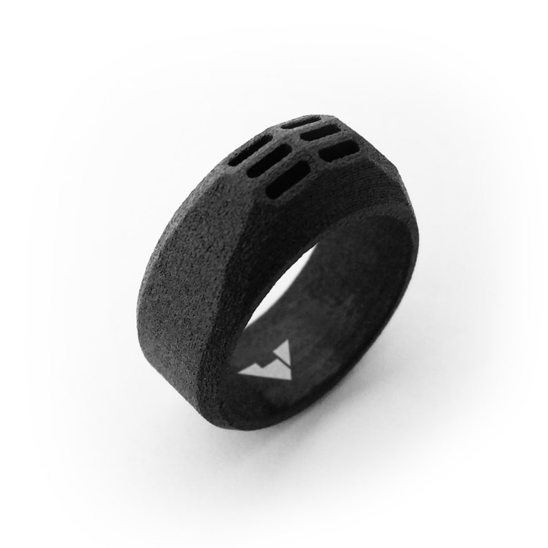 BALDER S 11th anniversary gift Black Statement ring .Men/'s jewelry 11th anniversary steel for him 11 year anniversary gifts for men