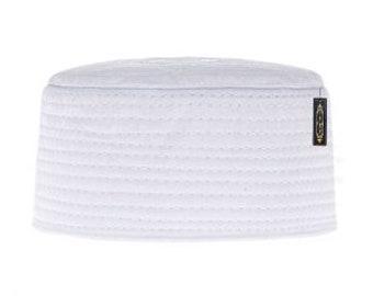 35a6cb9d78b Muslim Hat Turkish Skull Cap Kufi Islamic Prayer Namaz- White