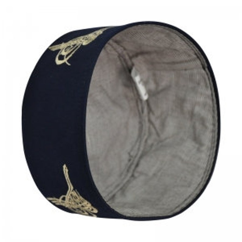 Muslim Hat Turkish Skull Cap  Kufi Islamic Prayer Namaz-Blue