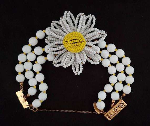 Signed Miriam Haskell Bracelet/ Haskell Jewelry/ I