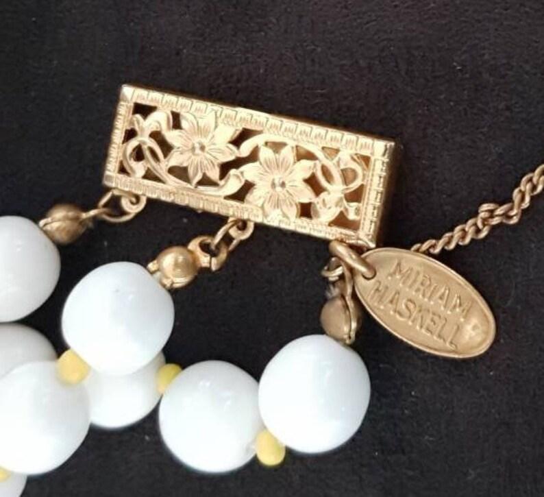 Signed Miriam Haskell Bracelet Haskell Jewelry Iconic Beaded Daisy Haskell Bracelet