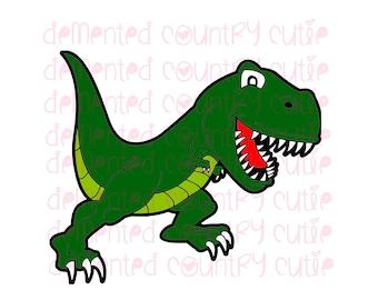 T Rex Birthday Card Etsy