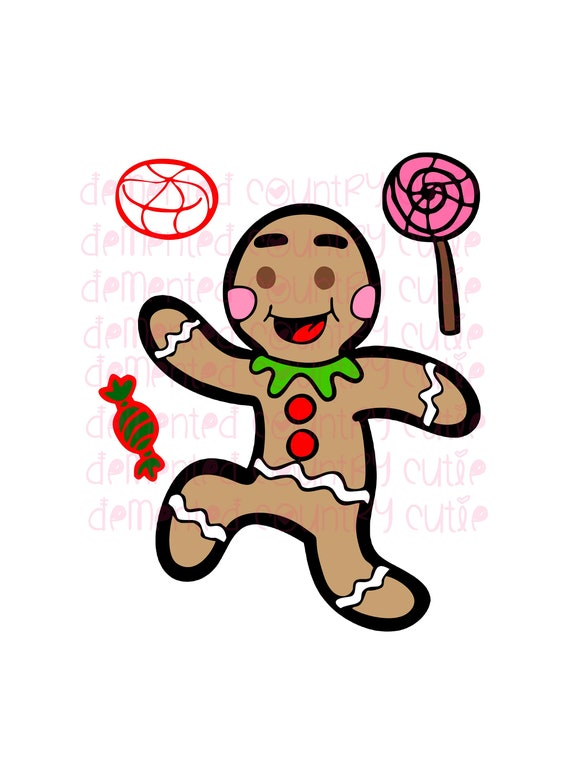 Gingerbread Man Ginger Bread Xmas Christmas Happy Holidays Svg Etsy