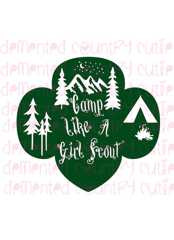 Camping Girl Scout Outdoors Scouts Svg Shirt Decal Iron On Etsy