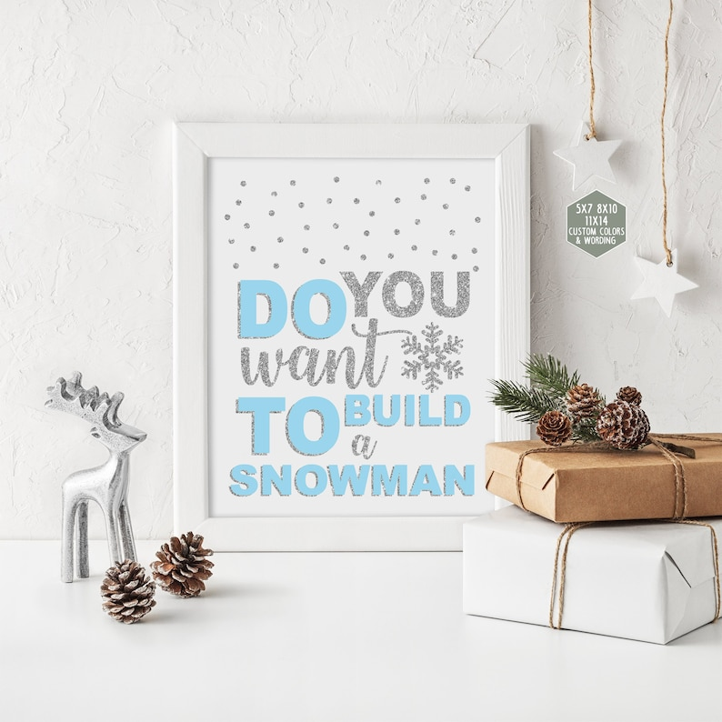 image relating to Do You Want to Build a Snowman Printable referred to as Do oneself have to have in direction of acquire a snowman indicator printable, wintertime onederland decorations, blue and silver 1st birthday social gathering, little one shower boy 005