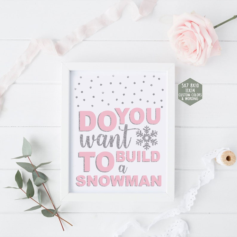 image relating to Do You Want to Build a Snowman Printable known as Do on your own need to have towards develop a snowman signal printable, wintertime onederland decorations, crimson and silver initially birthday get together, kid shower woman 005