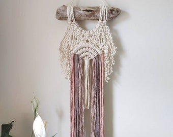 Abstract tree of life / rainbow tree / neutral rainbow / Neutral abstract rainbow / modern macrame wall hanging / neutral macrame /