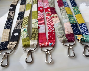 PATCHWORK LANYARD - Unique Key band, Neckband, Handmade with Love in The UK