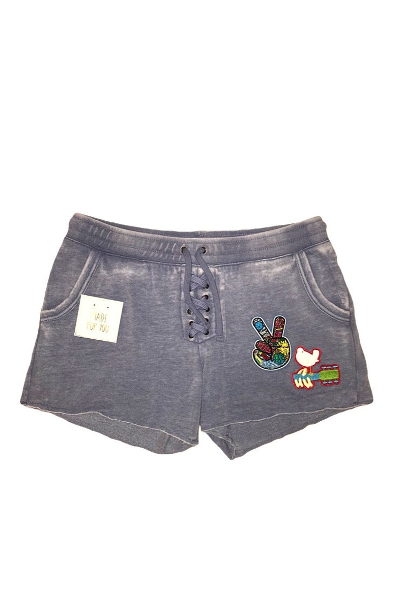 Lace-Up Sweatshorts With Woodstock Patches