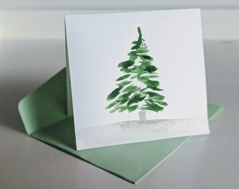 Watercolor Christmas Cards.Watercolor Greeting Cards Etsy