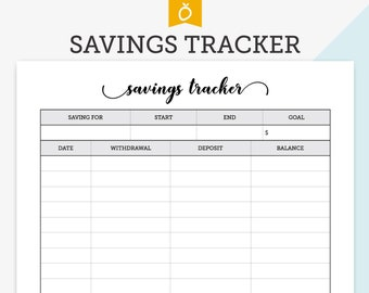 savings log etsy