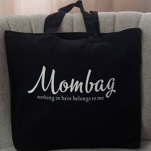 Mom Tote Activity Bag for Young Kids My Mommy Large Zippered Canvas Tote with Zipper Front Pouch for Mother/'s Day or Everyday