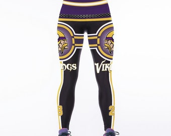 35b20b4a460d6 Minnesota Vikings Football Team Sports Leggings