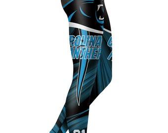 Carolina Panthers Football Team Sports Leggings 664b2bbe32a7