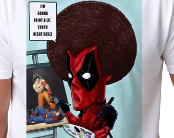 2fb2767b Deadpool as Bob Ross- Painting the Truth