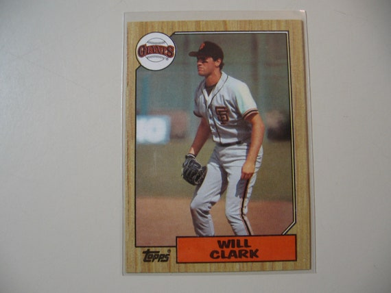 1987 Topps Will Clark Rc Rookie Baseball Card