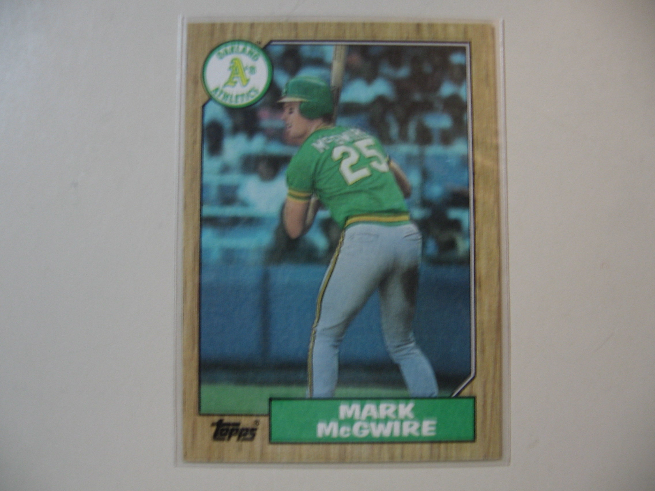1987 Topps Mark Mcgwire Baseball Card