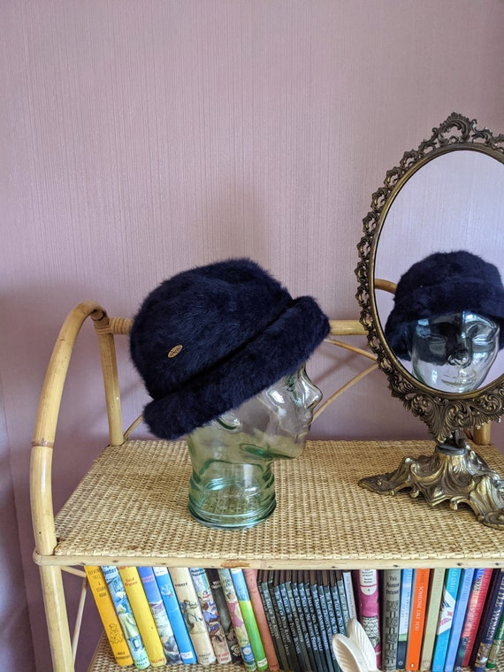 vintage angora blend winter hat, kangol winter hat